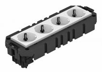 7404634 - OBO BETTERMANN Укомплектованная модульная рамка MT3 для 1-ой цепи тока (AMT4 4WSVCG).