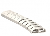 6154922 - OBO BETTERMANN Гибкий канал L= 1000 мм (светло-серый) (FLK-2K LGR).