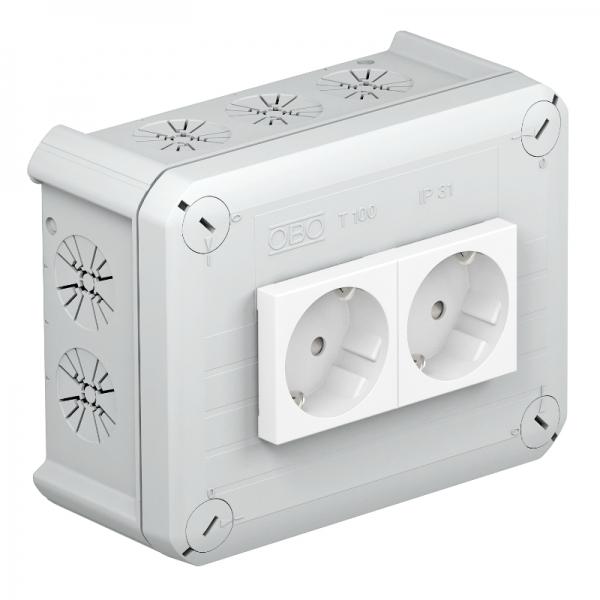 2007821 - OBO BETTERMANN Распределительная коробка 150x116x67 (T 100 2MSD WS).