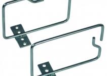 VO-W2-100/140 - Металлическая кабельная скоба, вертикальная, оцинкованная, 100 x 140 мм, ввод кабеля спереди, 10 шт.
