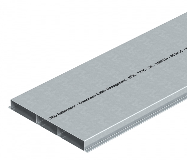 7400324 - OBO BETTERMANN Кабельный канал для заливки в стяжку EUK 2000x250x28 мм (сталь) (S3 25028).