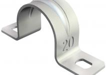 1018361 - OBO BETTERMANN Крепежная скоба (клипса) металл. двухлапковая 37мм (605 37 G).