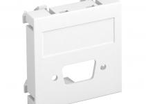 6104706 - OBO BETTERMANN Мультимедийная рамка VGA/D-Sub9 Modul45 (белый) (MTG-DB O RW1).
