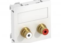 6105042 - OBO BETTERMANN Мультимедийная рамка Audio-Cinch Modul45 (белый) (MTG-2R L RW1).