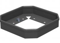 6286810 - OBO BETTERMANN Защитная рамка для миниколонны ISSHS4 (напольная) 41x214 мм (сталь,черный) (ISSHS4SR40).