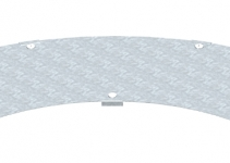 6231489 - OBO BETTERMANN Крышка угловой секции 400мм (WDBRL 90 40 FS).