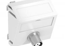 6105030 - OBO BETTERMANN Мультимедийная рамка Video-BNC Modul45 (белый) (MTS-BC F RW1).
