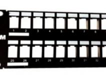 VOLPPCBF48K - Коммутационная панель 48 портов RJ-45 Volition®,2U, универсальная черная (пустая)