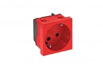 6120302 - OBO BETTERMANN Розетка одинарная 33° с з/к, с кодом, 250 В, 16A (красный) (STD-D3K SRO1).