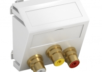 6105180 - OBO BETTERMANN Мультимедийная рамка Audio-Video Modul45 (серебристый) (MTS-12R L AL1).