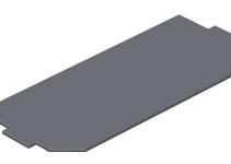 7407592 - OBO BETTERMANN Заглушка для монтажной коробки GB3 208x76 мм (ПВХ,черный) (LPA GB3).
