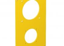 6109858 - OBO BETTERMANN Накладка блока питания VH для монтажа устройств 166x105 мм (желтый) (VHF-P13).
