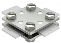 5314659 - OBO BETTERMANN Соединитель полосы крестовой (256 A-DIN 30 V4A).