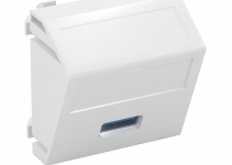 6104886 - OBO BETTERMANN Мультимедийная рамка USB 3.0 A Modul45 (белый) (MTS-U3A S RW1).