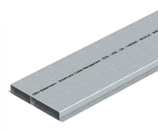 7400300 - OBO BETTERMANN Кабельный канал для заливки в стяжку EUK 2000x190x28 мм (сталь) (S2 19028).
