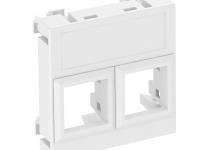 6119304 - OBO BETTERMANN Корпус компьютерной розетки Modul45 тип LE (прямой) 45x45 мм (белый) (DTG-02LE RW1).