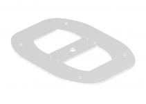 6290347 - OBO BETTERMANN Напольная пластина для электромонтажной колонны (сталь,белый) (ISSBPDM45RW).