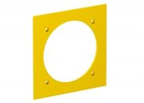 6109838 - OBO BETTERMANN Накладка блока питания VH для монтажа устройств, 95x95 мм (желтый) (VH-P3).