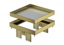 7409052 - OBO BETTERMANN Кассетная рамка RKN2 UZD3 ном.размер 4 200x200 мм (латунь) (RKN2 UZD3 4MS20).