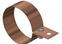 5350727 - OBO BETTERMANN Хомут ленточный для крепления к водосточной трубе  * (301 CU-120).