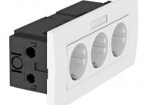 6119433 - OBO BETTERMANN Укомплектованный розеточный блок AR45 (марк.,3xModul45,84x185x59 мм,белый) (SDE-RW D0RW3B).