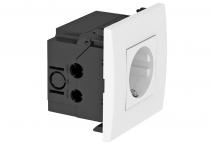 6119401 - OBO BETTERMANN Укомплектованный розеточный блок AR45 (1xModul45,84x84x59 мм,белый) (SDE-RW D0RW1).