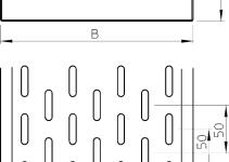 6055524 - OBO BETTERMANN Кабельный листовой лоток перфорированный 60x600x3000 (MKS 660 FS).
