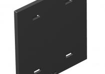 7408436 - OBO BETTERMANN Накладка глухая для бокса Telitank T4L/T8NL (полиамид,черный) (T8NL P01 9011).