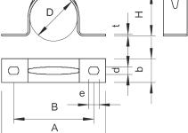 1017926 - OBO BETTERMANN Крепежная скоба (клипса) металл. двухлапковая 32мм (605 32 ALU).