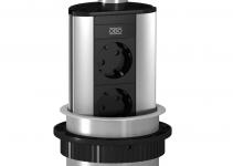 6116854 - OBO BETTERMANN Настольный бокс вертикальный DBV (алюминий,серебристый) (DBV-A3A D2S).