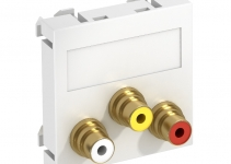 6105162 - OBO BETTERMANN Мультимедийная рамка Audio-Video Modul45 (белый) (MTG-12R L RW1).