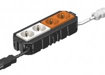 7404552 - OBO BETTERMANN Укомплектованная монтажная коробка GB3 безгалогеновая (AGB3H1 2W2OR).