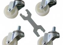 DP-KO-TC - Транспортировочные ролики для напольных шкаф Contegов (грузоподъемность 30кг/ролик) - 1 упаковка (4 ролика), только для транспортировки пустого шкаф Contegа