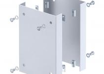 6290422 - OBO BETTERMANN Защитная пластина для электромонтажных колонн ISS 250x166x33 мм (сталь,серебристо-белый) (ISS160160AS WA).