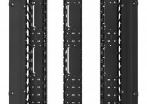 HDWM-VMR-48-12/10F - Вертикальный кабельный организатор (монтаж в шкаф Conteg), со съемной крышкой (крышка разделена на 3 части), 44