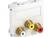 6105168 - OBO BETTERMANN Мультимедийная рамка Audio-Video Modul45 (серебристый) (MTG-12R L AL1).
