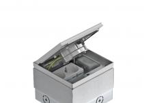 7368396 - OBO BETTERMANN Лючок укомплектованный GE2 (с тубусом) 140x140x110 мм (серебристый) (GE2FV VO).
