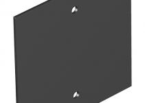 7408140 - OBO BETTERMANN Крышка глухая для напольного бокса Telitank 94.5x88 мм (ПВХ,черный) (T12L P05S 9011).