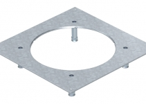 7400537 - OBO BETTERMANN Крышка усиленная монтажного основания UZD350-3R7 (h=70-105 мм,сталь) (DUG 350-3R7SL70).