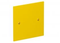 6109842 - OBO BETTERMANN Накладка блока питания VH для монтажа устройств, 95x95 мм (желтый) (VH-P1).