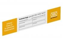 7205423 - OBO BETTERMANN Маркировочная табличка 250x43 (KS-E DE).