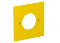6109839 - OBO BETTERMANN Накладка блока питания VH для монтажа устройств, 95x95 мм (желтый) (VH-P7).