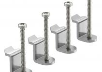 7407559 - OBO BETTERMANN Универсальный комплект крепежных уголков типа 2 для 4 точек фиксации (сталь, 4 шт.) (GESUB2 4).
