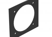 7408204 - OBO BETTERMANN Крышка для напольного бокса Telitank для устройства CEE 94.5x88 мм (ПВХ,черный) (T12L P7S 9011).
