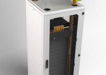 OPW-30IA90-YL - OptiWay 300, вертикальный спуск 90°, 300 x 100мм, цвет - желтый, для соединения с др. компонентами необходимо 2 x OPW-30JO