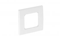 6119396 - OBO BETTERMANN Рамка одинарная для устройств 50 мм 84x84 мм (серебристый) (AR50-F1 AL).