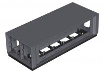 7408100 - OBO BETTERMANN Напольный бокс Telitank 375x154x109 мм (полиамид,черный) (T12L 00C 9011).
