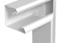 6282730 - OBO BETTERMANN Плоский угол кабельного канала Rapid 80 133x110 мм (сталь,белый) (GEK-SAFF133110P).