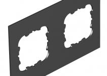 7408180 - OBO BETTERMANN Крышка для напольного бокса Telitank на 2 устройства EKR 142x88 мм (ПВХ,черный) (T12L P2S 9011).
