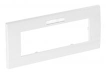 6119382 - OBO BETTERMANN Рамка тройная Modul45 (с полем д/маркировки.,горизонт.,84x185 мм,белый) (AR45-BF3 RW).